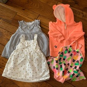 9 month girl clothes lot - 4 pieces!